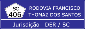 Trânsito Agora na Rodovia Francisco Thomaz dos Santos SC 406