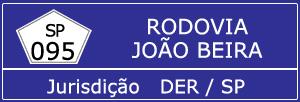 Câmeras Rodovia João Beira SP 095