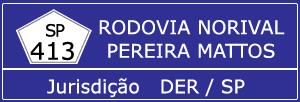 Câmeras na Rodovia Norival Pereira Mattos SP 413