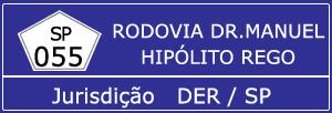 Câmeras Rodovia Doutor Manuel Hipólito Rego SP 055